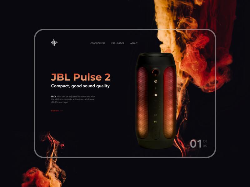 JBLPulse 2 Landign Page interaction interface website ui ux diseño web web landingpage