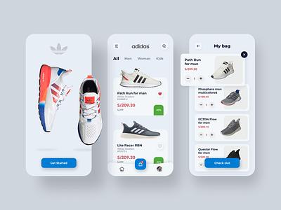 Adidas App ux ui shoes store shoes app shoes adidas mobile minimal ios design color application app design app