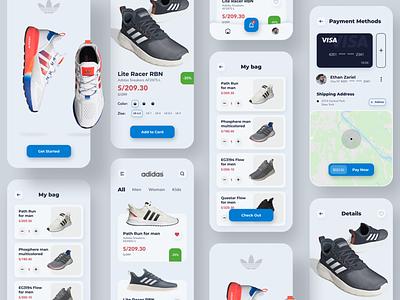 Adidas App  Project ux ui shoes app shoes mobile minimal design color aplication appdesign app adidas