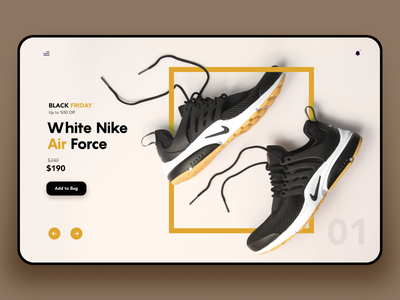 Landing Page Nike Air Shoes minimal shoesweb shoes nike ecommerce color interaction design ui ux