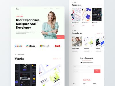 personal portfolio personal brand design branding webdesign design custom portfolio site web site portfolio