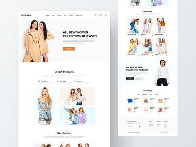 E-commerce clothing website clothes clothing brand product ecommerce ux ui branding custom design brand design