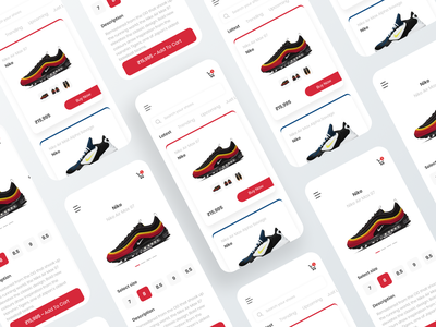 Ecommerce shoe app adidas nike shoes android app ios ecommerce ui ux branding custom design brand design