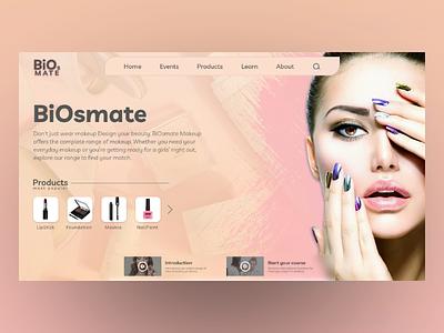 BiOsmate webpage webdesign ui landingpage