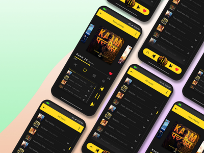 Music player ios android app music ux ui