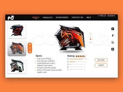 PC BUYING ui ux web webdesign xd adobe