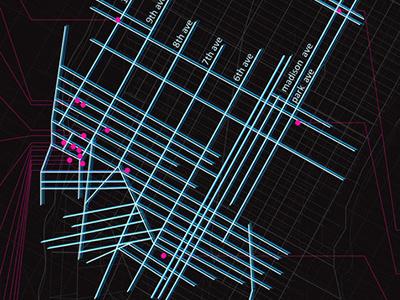 Map of NYC Nightlife nyc nightlife map