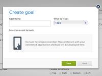 New ios Editor 'Create Goal' Dialog: Empty State (Beta)