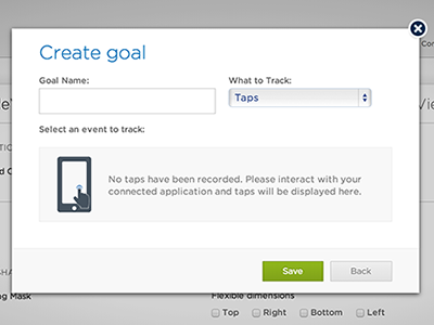 New ios Editor 'Create Goal' Dialog: Empty State (Beta) goal dialog empty state ios