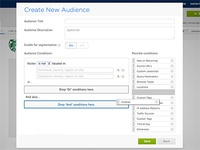 Drag and Drop Audiences Feature