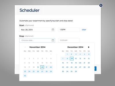 Scheduler Datepicked 2 date picker ui scheduler