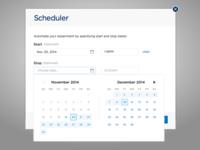 Scheduler Datepicked 2
