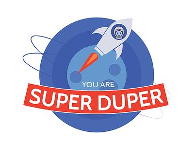 You Are Super Duper Logo charity kids logo