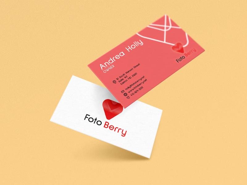 Foto Berry business cards design gradient logo brand identity logo design branding business cards