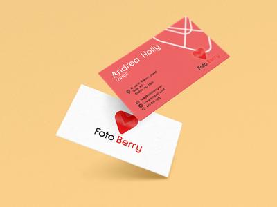 Foto Berry business cards design