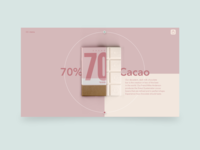 Chocolate website UI design
