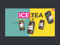 Icetea 3D web design