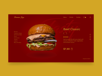 Premium burger UI design