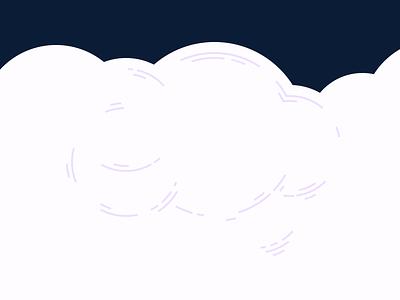 Clouds purple blue clouds