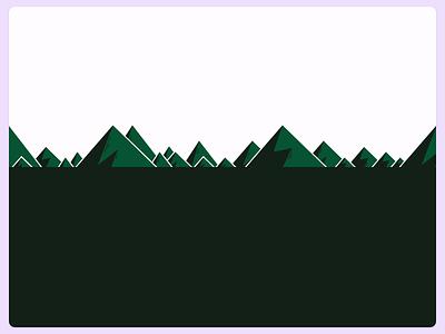 Mountains illustration mountains green