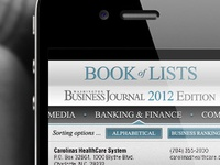 Concept - Book of Lists app