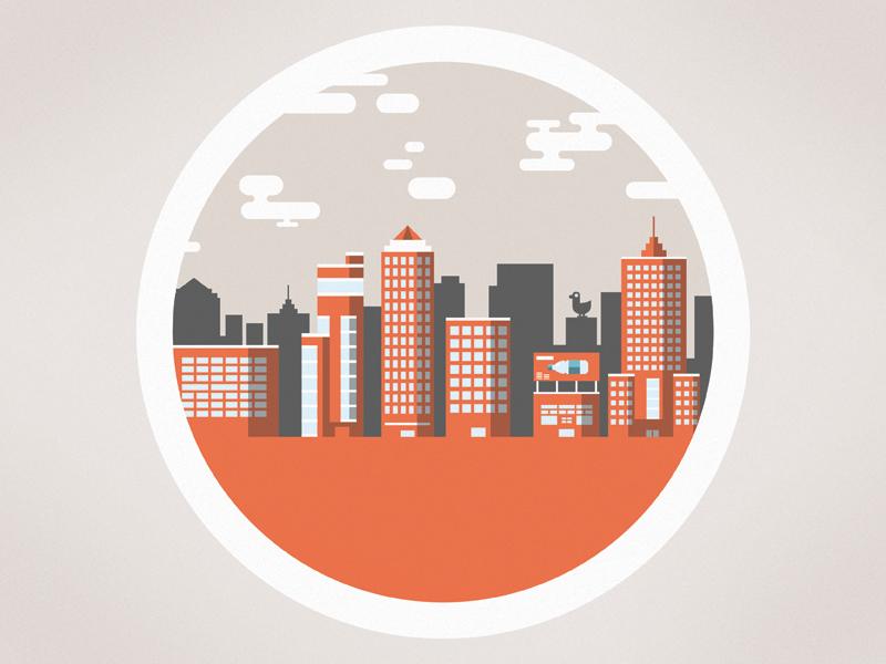 Fracking animation, city illustration illustration infographic animation science fracking city flat information