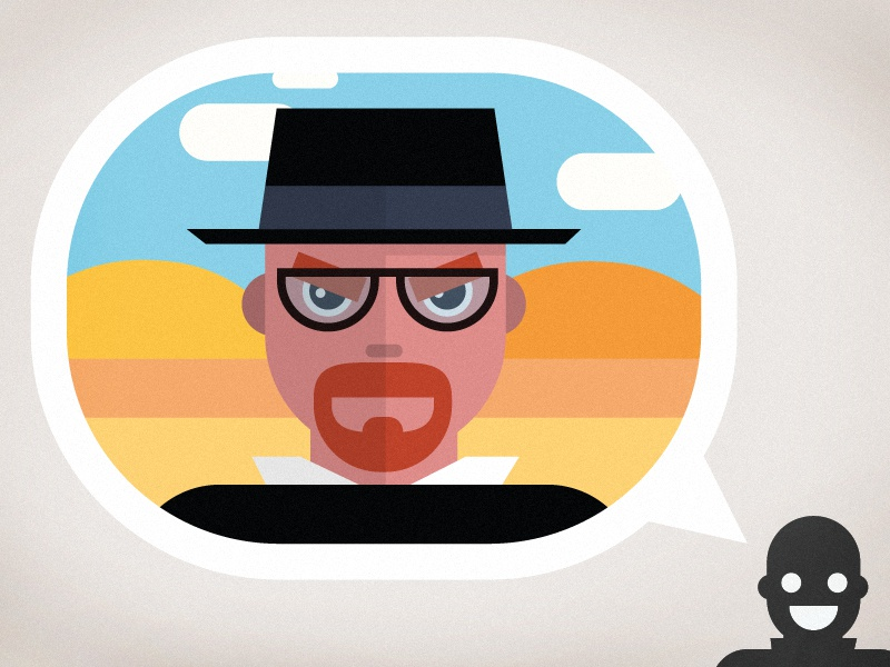 Say. My. Name. Breaking Bad. heisenberg breaking bad vector flat design illustration hat walter white infographic animation video