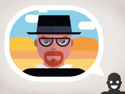 Say. My. Name. Breaking Bad. heisenberg breaking bad vector flat design illustration hat walter white infographic animation video