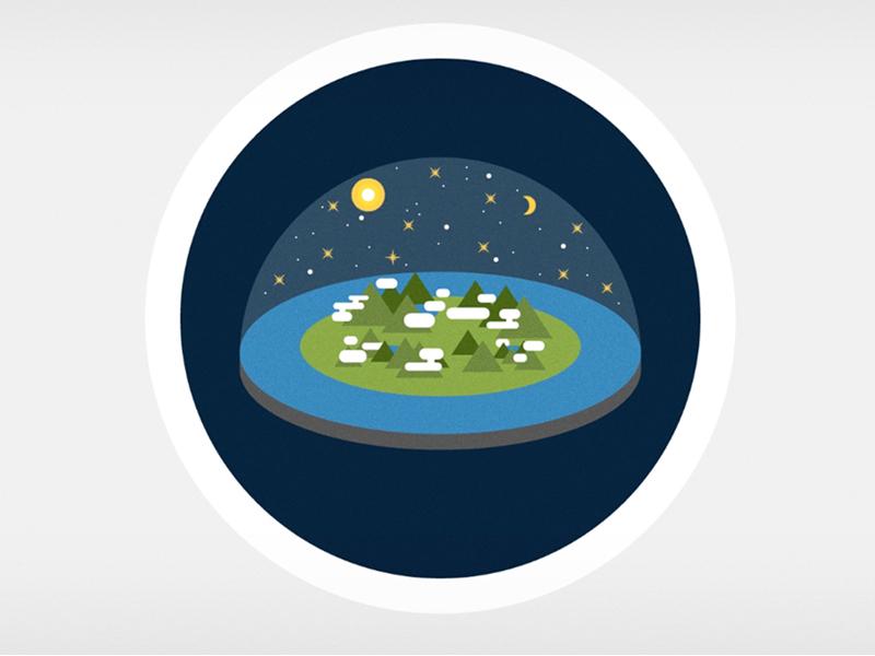 Flat Earth earth flat design kurzgesagt vector illustration icon