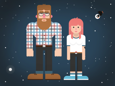 Are you Alone characters illustration character design flat design infographic animation science space universe kurzgesagt