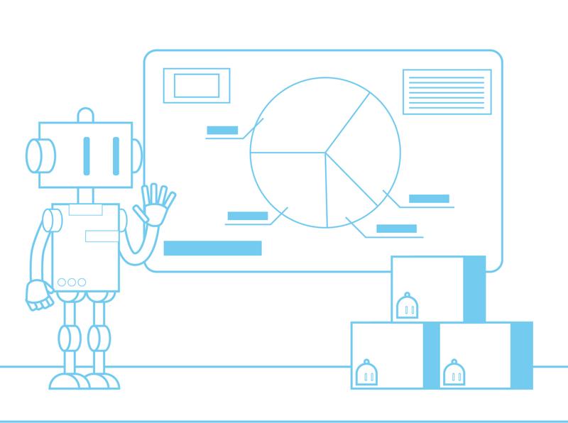 Meeting Robot business robot vector ai illustration