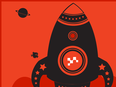 Infographic Blast Off infographic red black vector