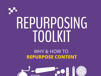 Repurposing Content Toolkit purple book kitchen