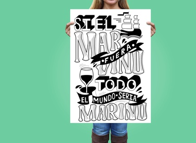 Girl Holding Large Poster with lettering