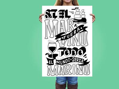 Girl Holding Large Poster with lettering typography vector minimal logo lettering illustrator illustration design branding art