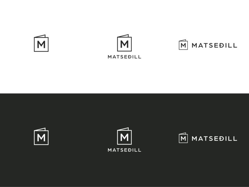 Matseðill logo illustrator restaurant menu recipe food logo design logo