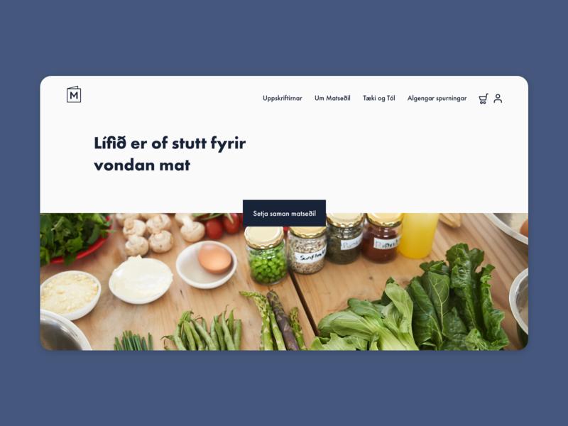 Web designs for Matseðill adobexd webdesign website web meal plan meal homepage bonsai food