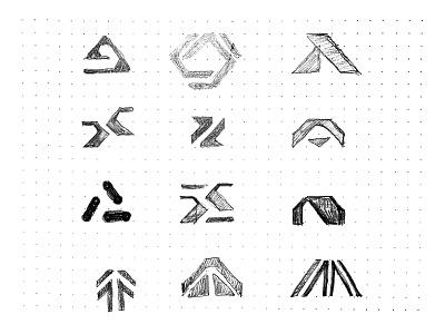 Aptible Mark Evolution logo identity logo design branding focus lab