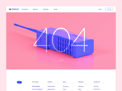 """""""Your call cannot be completed as dialed."""" cinema4d web design ui 404 focus lab"""