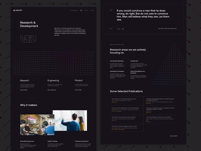 Early Explorations for ASAPP web design branding focus lab