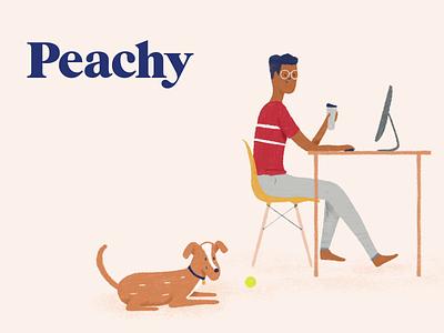 Working Remotely animation illustration branding