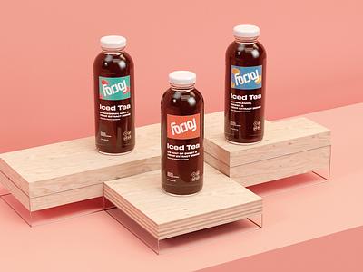 For Joy Case Study bottle tea beverage packaging design logo brand development identity branding focus lab