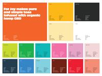Colorful For Joy color palette colorful branding rainbow palette color focus lab