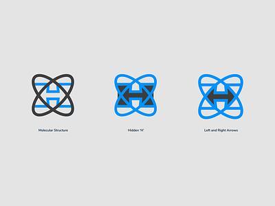 Atomic logo logo design boneyard identity design branding focus lab