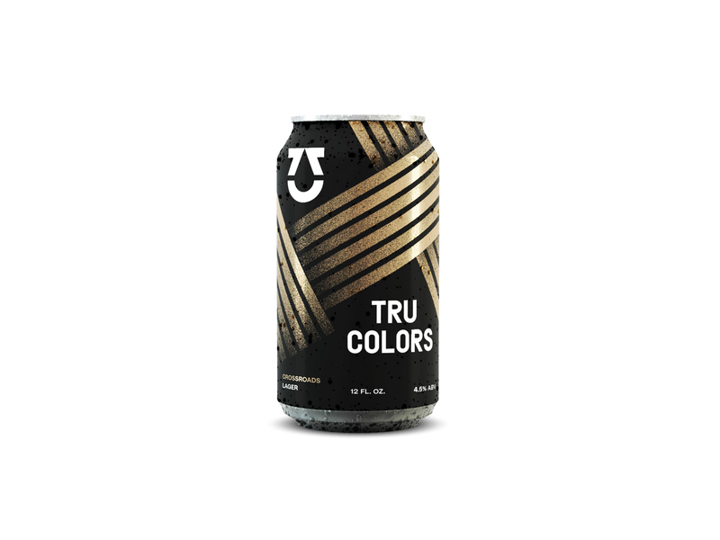 At a Crossroads identity can packaging brewery beer can beer branding focus lab