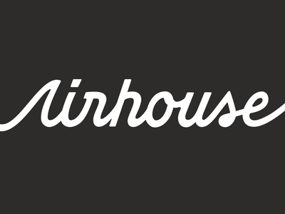 Meet Airhouse operations logistics shipping custom lettering wordmark identity typogaphy branding focus lab
