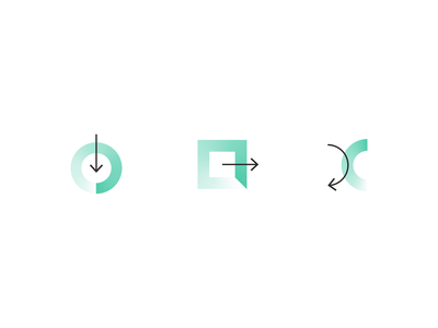 Lighter than Air gradient iconography icon set icons branding focus lab
