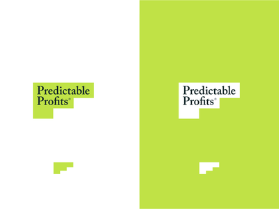 Predictable Profits business green logo brand agency brand development logo design identity identity design branding focus lab