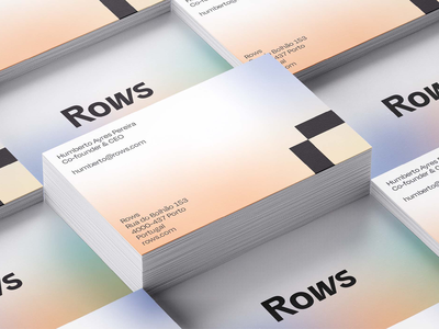 Rows... of Business Cards logo design identity identity design spreadsheet gradients gradient business card branding