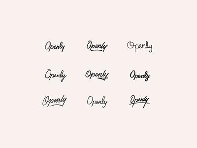 Open to Ideas script lettering custom script sketches logo sketches branding focus lab